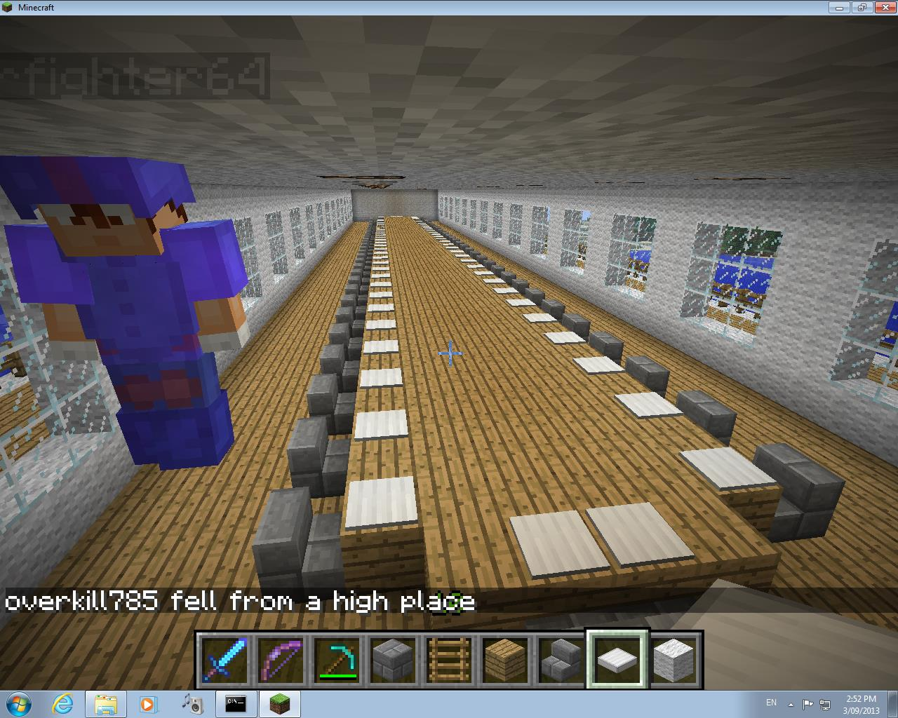 Minecraft project minecraft at rhs for Dining room designs minecraft